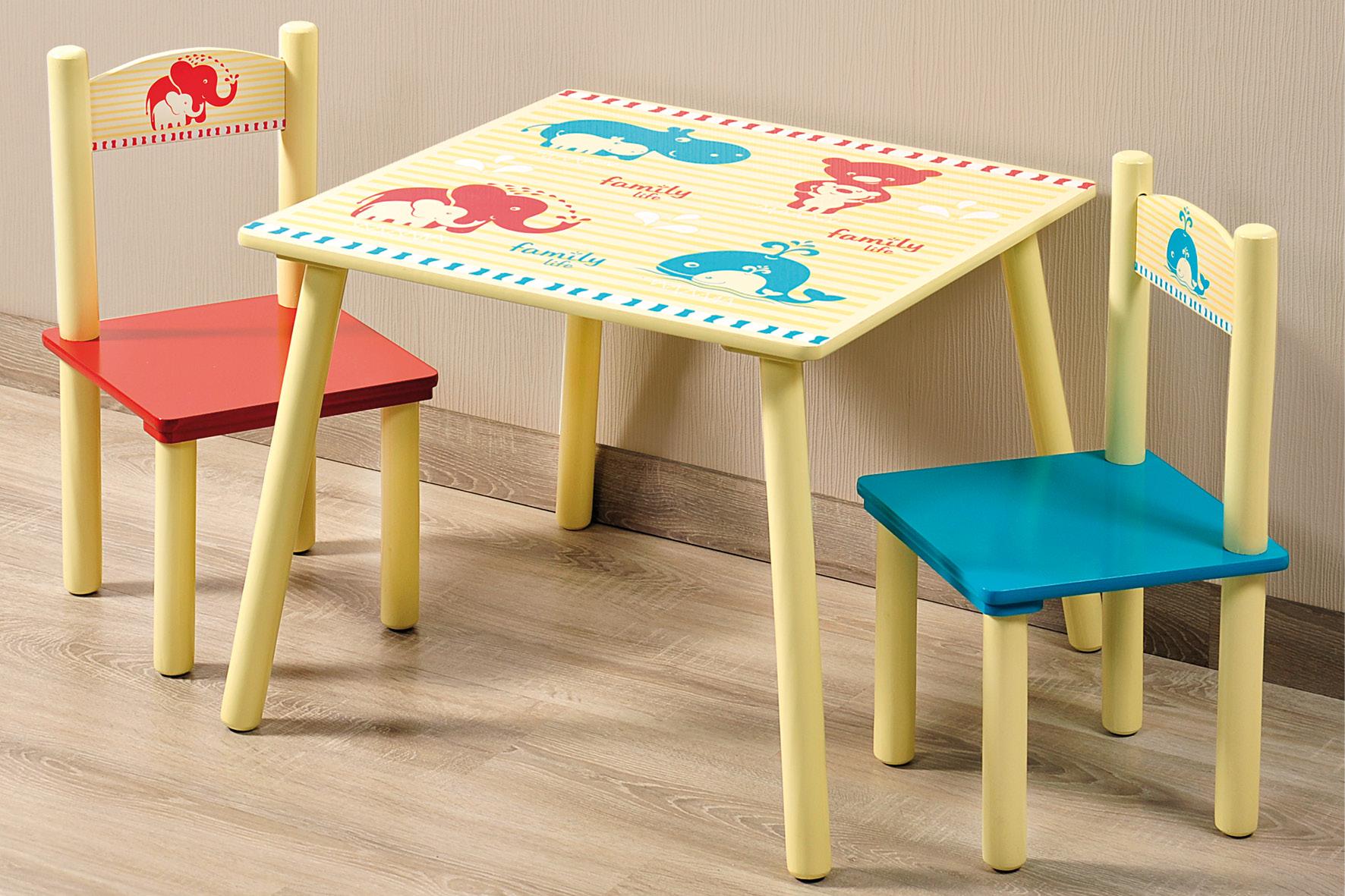 Dětský stolek s 2 židličkami, Kesper