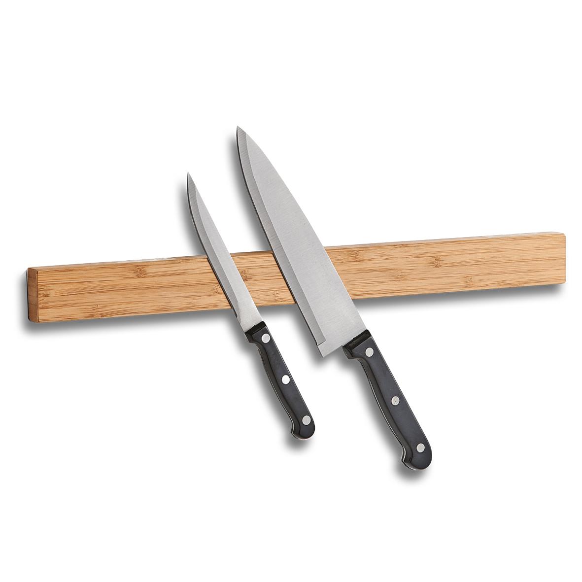 Zeller, Magnetická lišta na nože, bambus, 24567