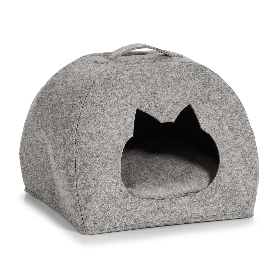 Zeller, Kočičí pelíšek, světle šedý, 40,5 x 38 x 37,5 cm