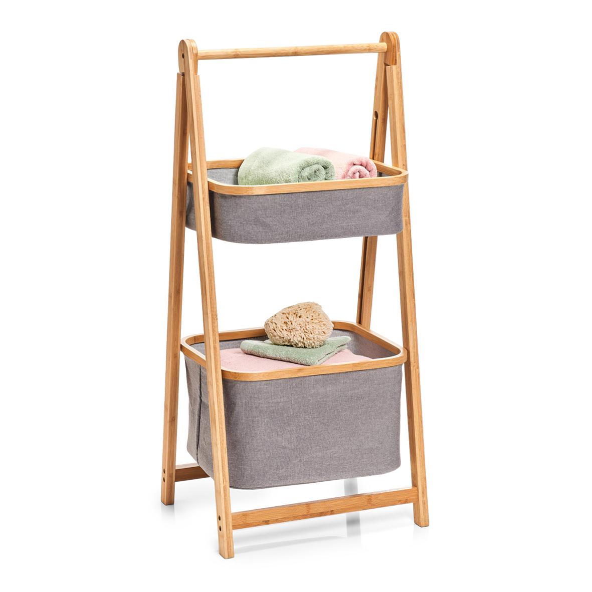 Zeller regal bambus/polyester 14234