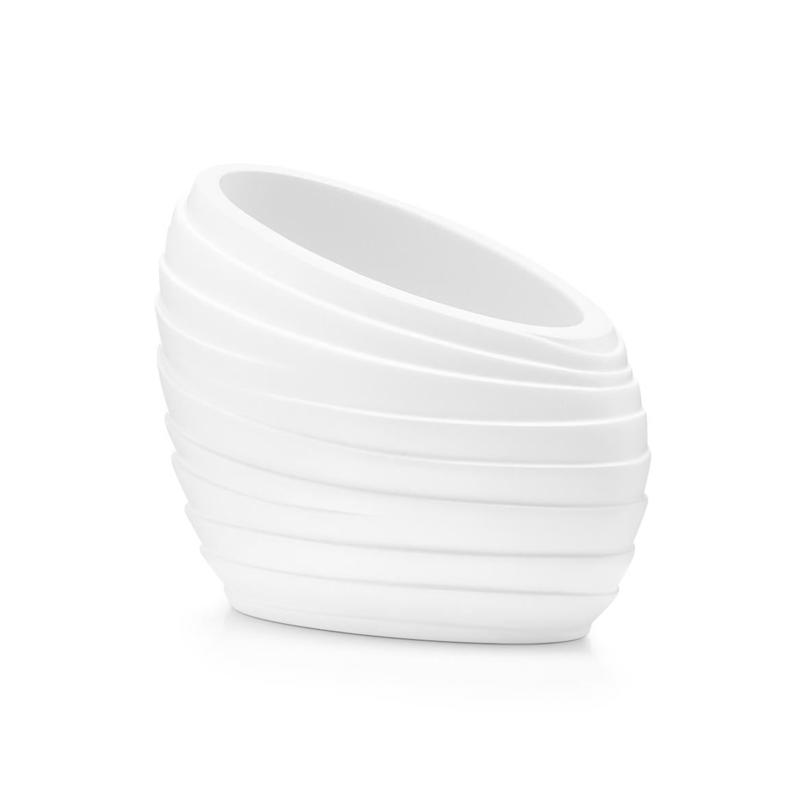 """Zeller pohárek na zubní pastu polyresin bílý """" Abstrakt"""" 18741"""
