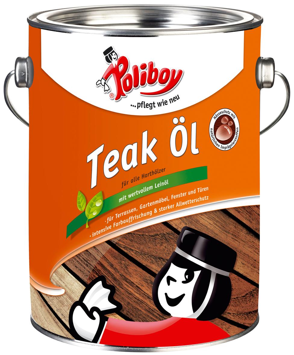 Poliboy Teakový olej 2,5 l / tmavý