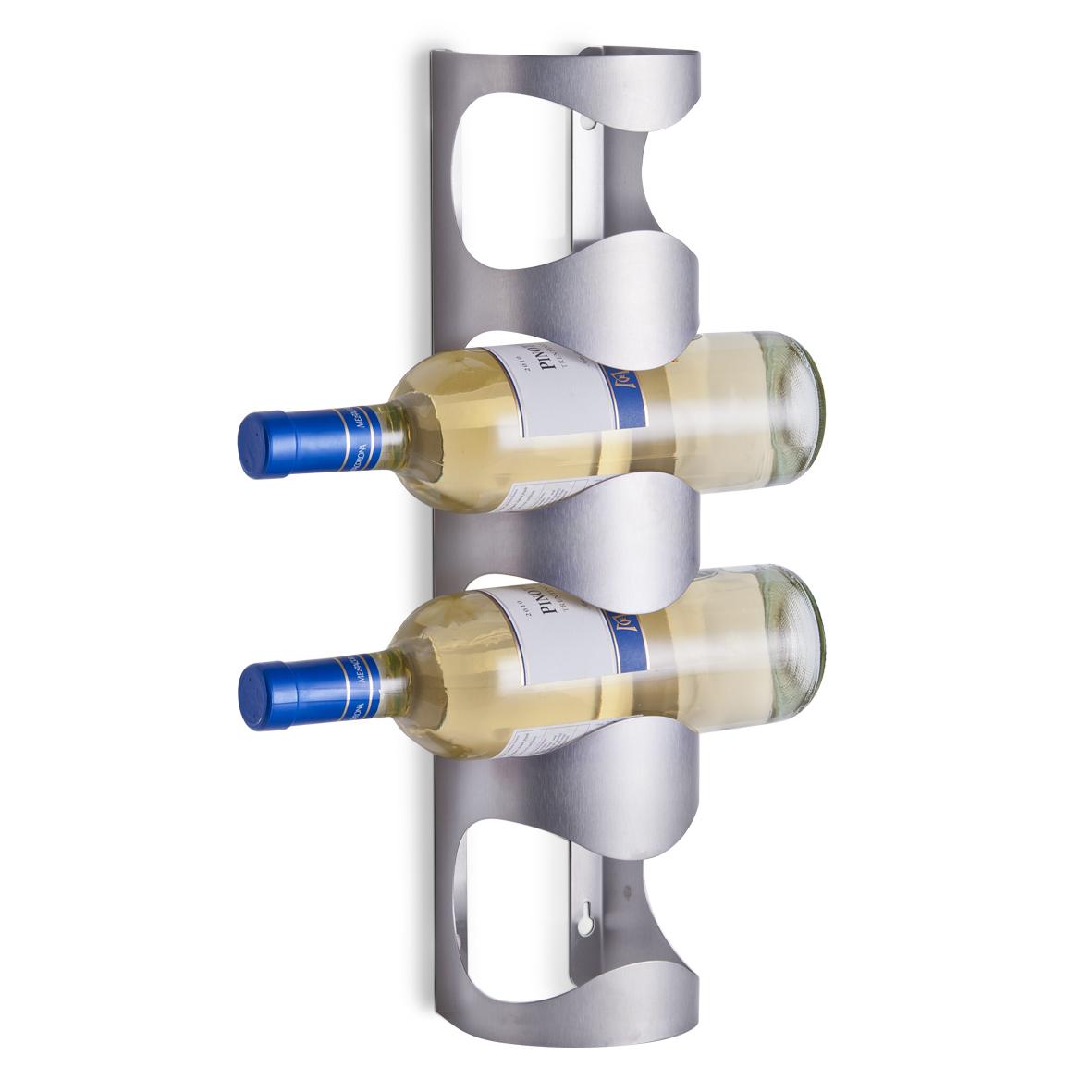 Stojany na v no zeller dr k na v no na 4 lahve 27365 - Portabottiglie ikea acciaio ...