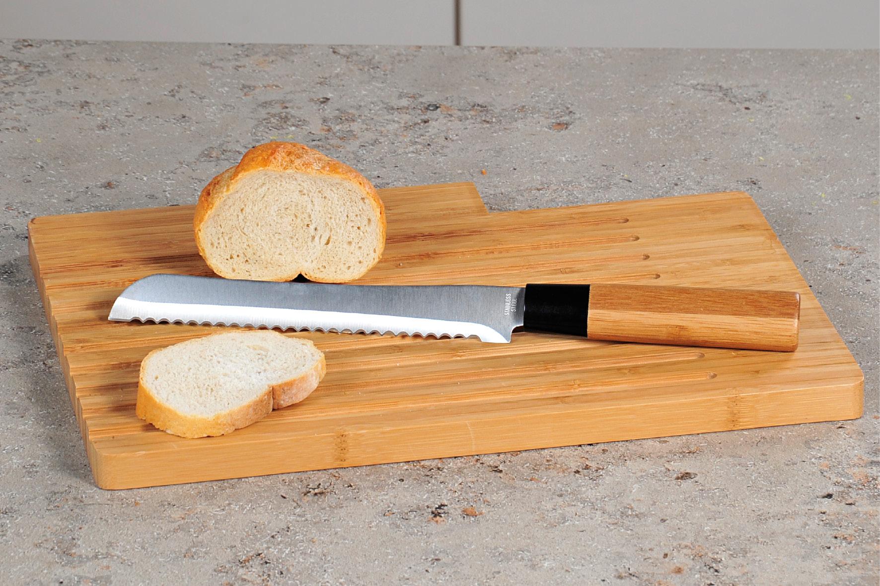 Kesper, Prkénko na krájení chleba s nožem, bambus