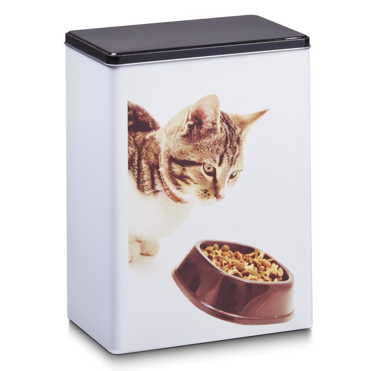 Dóza na kočičí granule, kov