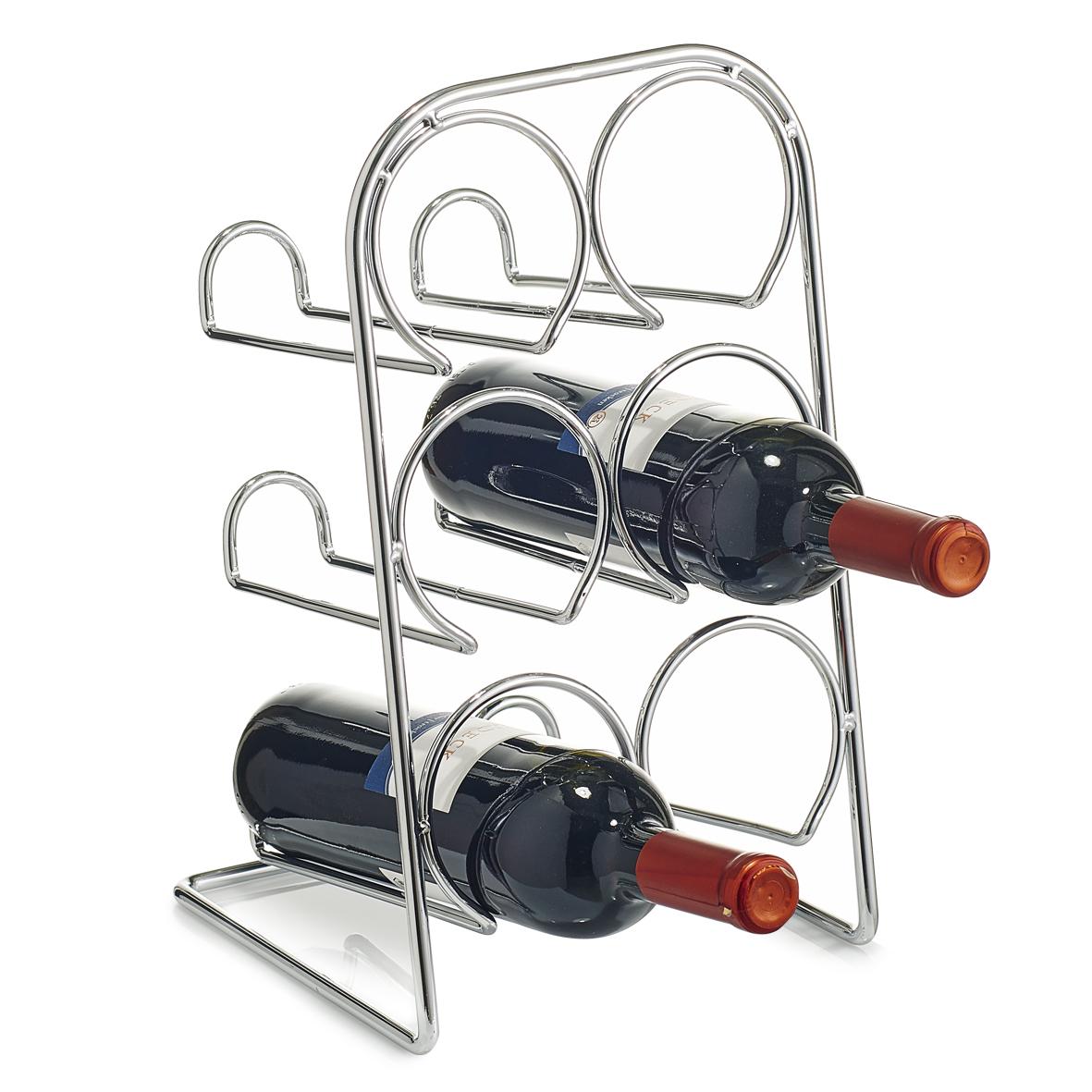 Zeller, Stojan na víno pro 6 láhví kovový, 27370